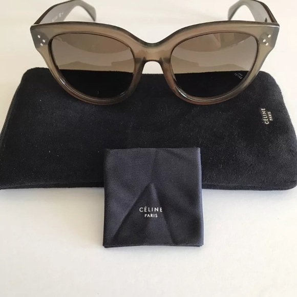 f408b4129c48 Celine gray 41755 Audrey sunglasses - brand new